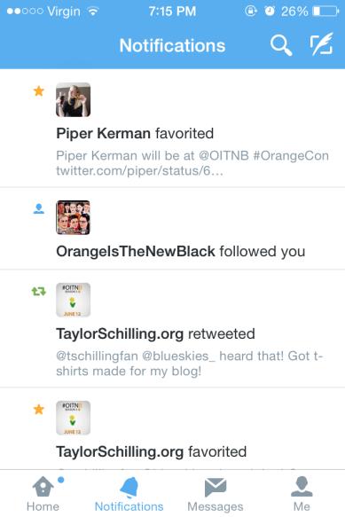 Piper Kerman Twitter Favorite