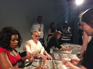 Autographing with Lorraine Toussaint, Lori Petty, and Alysia Reiner.