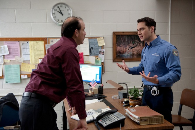 Nick Sandow (L) and Matt McGorry (R) in a scene from NetflixÕs ÒOrange is the New BlackÓ Season 2. Photo credit: JoJo Whilden for Netflix.