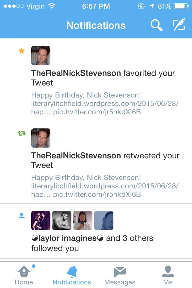 Nick Stevenson Twitter