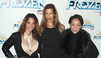 NEW YORK, NY - NOVEMBER 11: Dascha Polanco, Alysia Reiner and Selenis Leyva pictured at Disney On Ice presents Frozen at The Barclay's Center in Brooklyn, New York City on November 11, 2014. Credit: Diego Corredor/MediaPunch