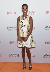 "Samira Wiley (Poussey Washington) said she would bring ""[a]n iPod. And then I'd go in the stall by myself and try to keep my feet still so no one can see me, but I'd be like…"" [Does dance moves]"