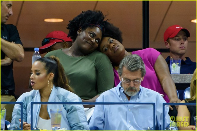 September 6, 2015: Adrienne C. Moore, Danielle Brooks, Dascha Polanco is sighted during the 2015 US Open held at the USTA Billie Jean King National Tennis Center in Flushing Meadows in New York City. Mandatory Credit: INFphoto.com Ref: infusny-126