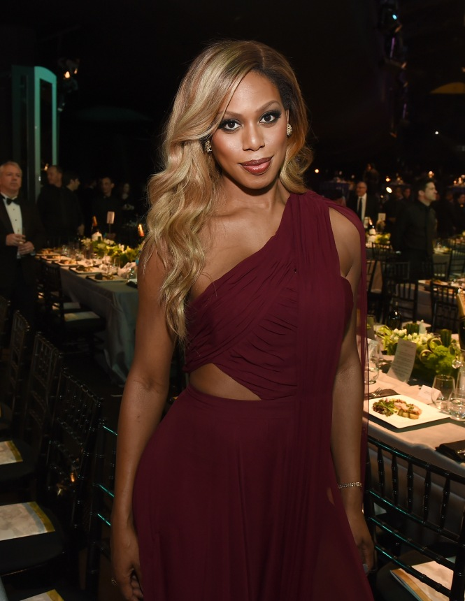 LOS ANGELES, CA - JANUARY 30: Actress Laverne Cox attends The 22nd Annual Screen Actors Guild Awards at The Shrine Auditorium on January 30, 2016 in Los Angeles, California. 25650_021  (Photo by Kevin Winter/Getty Images for Turner) *** Local Caption *** Laverne Cox