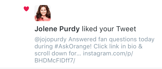 Jolene Purdy (Hapakuka) liked one of my tweets